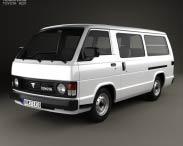 3D model of Toyota Hiace Passenger Van 1982