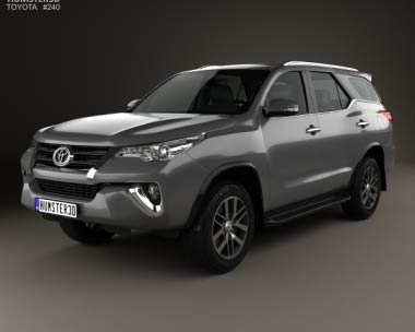 3D model of Toyota Fortuner 2016