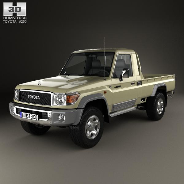 3D model of Toyota Land Cruiser Single Cab Pickup VXR 2007