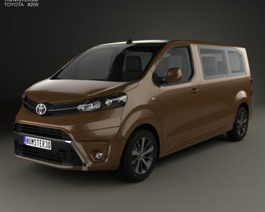 3D model of Toyota Proace 2016