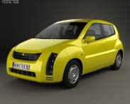 3D model of Toyota WiLL Cypha 2002