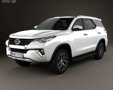 3D model of Toyota Fortuner VXR 2016
