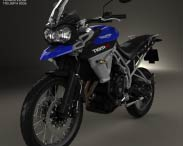 3D model of Triumph New Tiger 800 XC 2015
