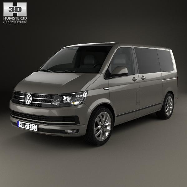 3D model of Volkswagen Transporter (T6) Multivan 2016