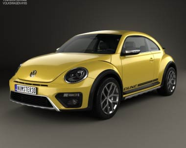 3D model of Volkswagen Beetle Dune 2016