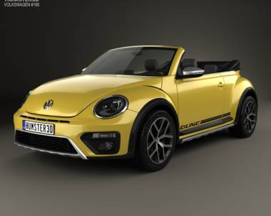 3D model of Volkswagen Beetle Dune Convertible 2016