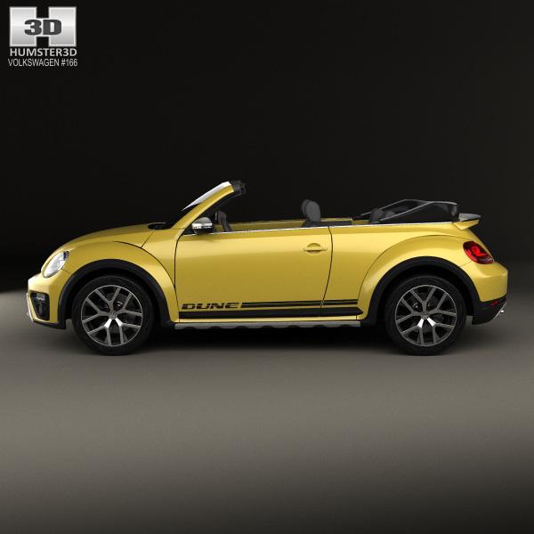 volkswagen beetle dune convertible 2016 3d model humster3d. Black Bedroom Furniture Sets. Home Design Ideas