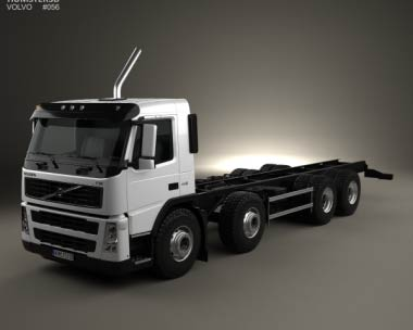 3D model of Volvo FM Chassis Truck 4-axle 2010