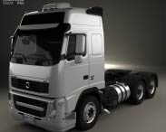 3D model of Volvo FH Tractor Truck 3-axle 2008