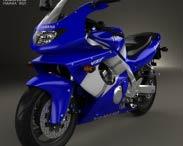 3D model of Yamaha YZF600R Thundercat 1994