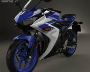 3D model of Yamaha YZF-R3 2015