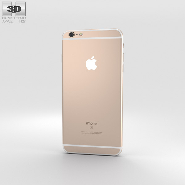 iphone 6s plus models apple iphone 6s plus gold 3d model humster3d 15143