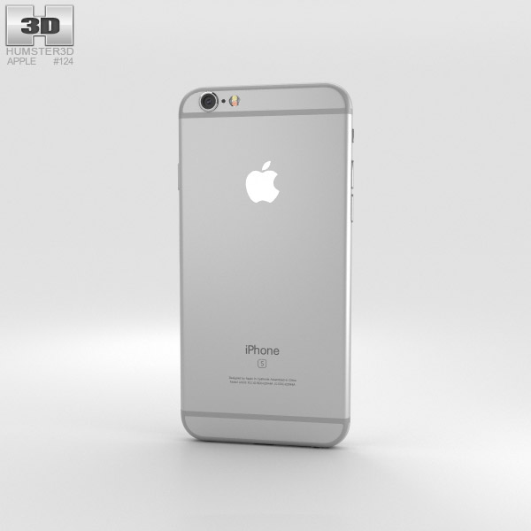 iphone 6s models apple iphone 6s silver 3d model humster3d 11486